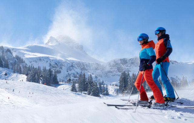 Skifahren im Skigebiet Mellau-Damüls im Bregenzerwald © Adolf Bereuter / Bregenzerwald Tourismus