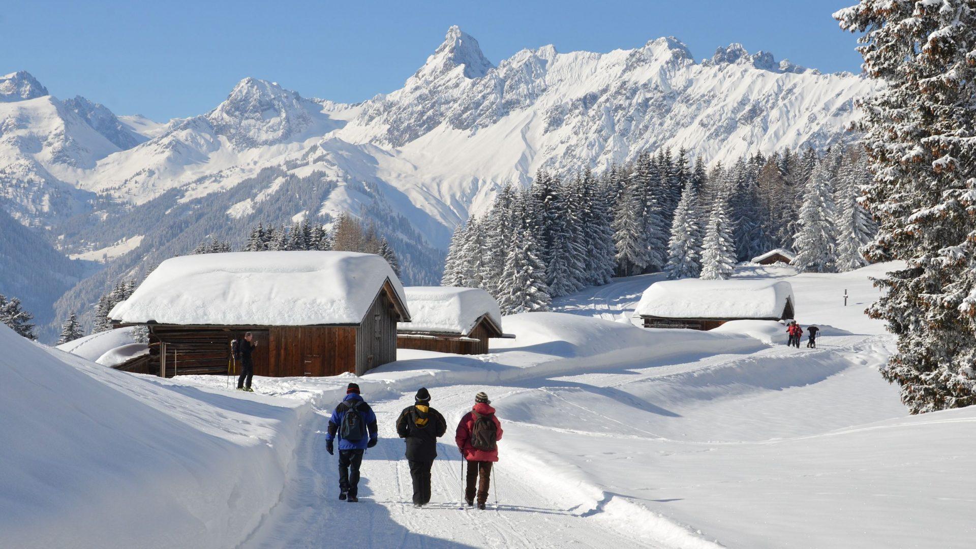 Ferienhotel Fernblick, Winterwandern, Winterwanderwege im Montafon (c) Hotel Fernblick