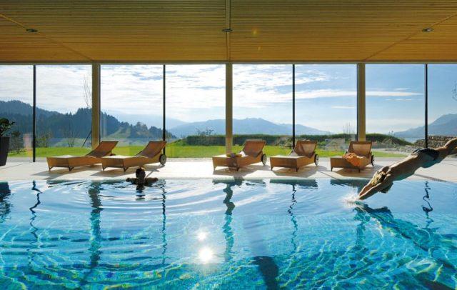 Wellnesshotel Linde, Sulzberg, Bregenzerwald, Indoor Pool © Hotel Linde
