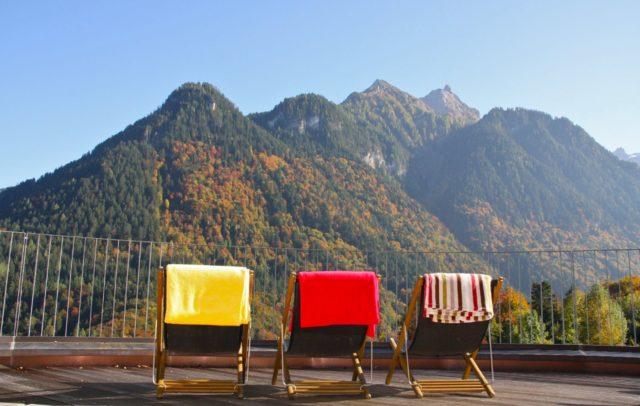 Aussicht in die Berge, Wellnesshotel Naturhotel Taleu (c) Hotel Taleu, Bürserberg, Brandnertal