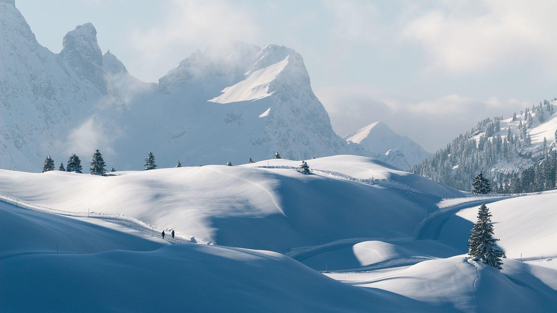 Winterwandern in Schröcken, Bregenzerwald (c) walser-image.com