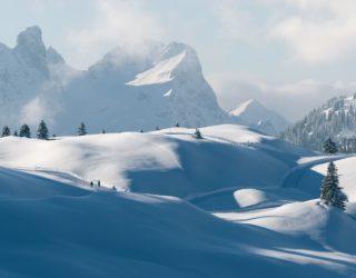 Winterwandern in Vorarlberg, Schröcken, Bregenzerwald Winterwanderung (c) walser-image.com