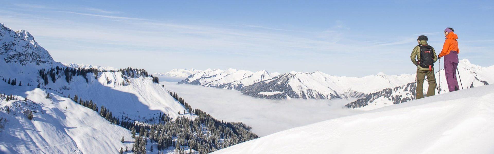 Aussicht im Skigebiet Sonntag-Stein, Grosses Walsertal © Alex Kaiser / Alpenregion Bludenz Tourismus
