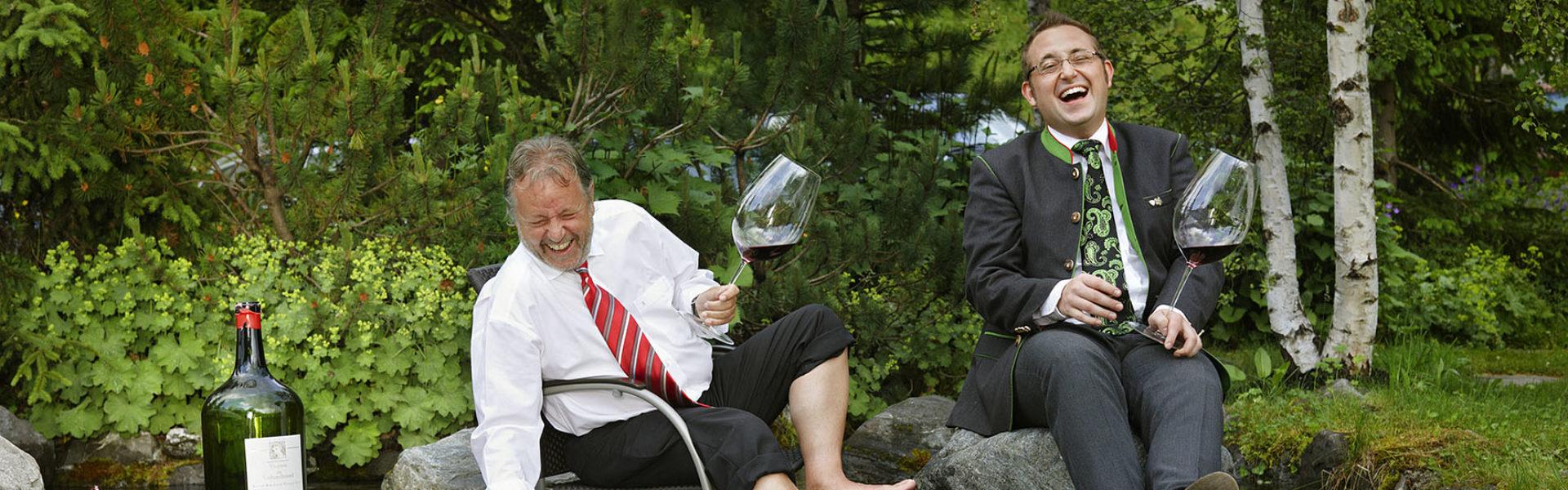 Paul und Johannes Pfefferkorn vom Golfhotel Romantik Hotel