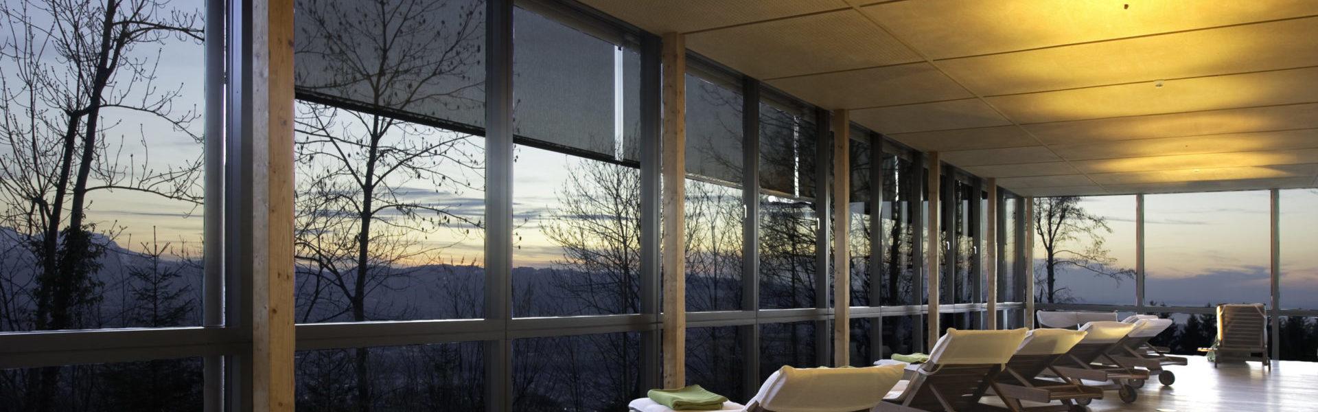 Moderne Gastlichkeit - Gesundheitszentrum Rickatschwende, Dornbirn © Dominik Hartmann