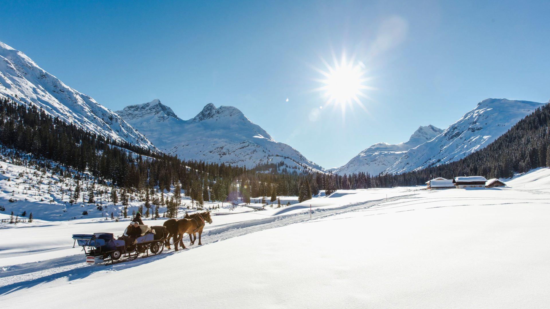 Winterzauber - Pferdeschlittenfahrt in Lech Zürs am Arlberg (c) Christoph Schöch