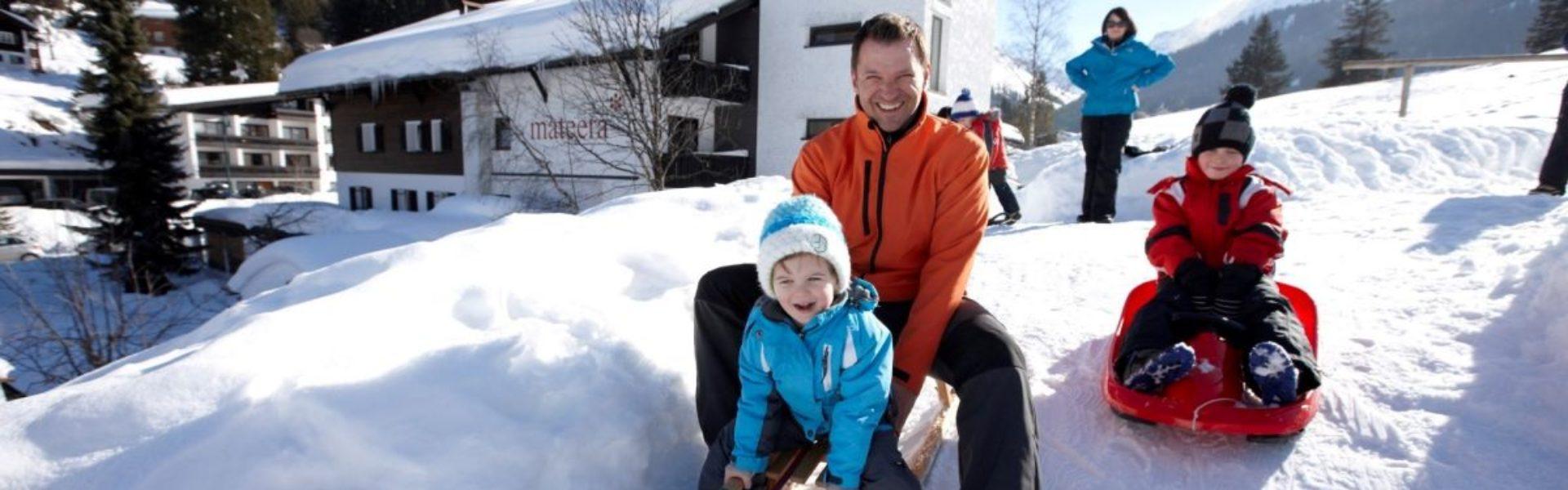 Top Family Familienhotel Mateera, Gargellen, rodeln © Schwärzler Hotel Management