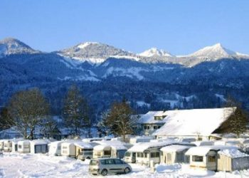 Auhof Camping im Winter