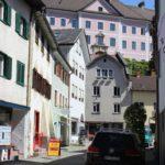 Blick auf das Schloss von der Kirchgasse