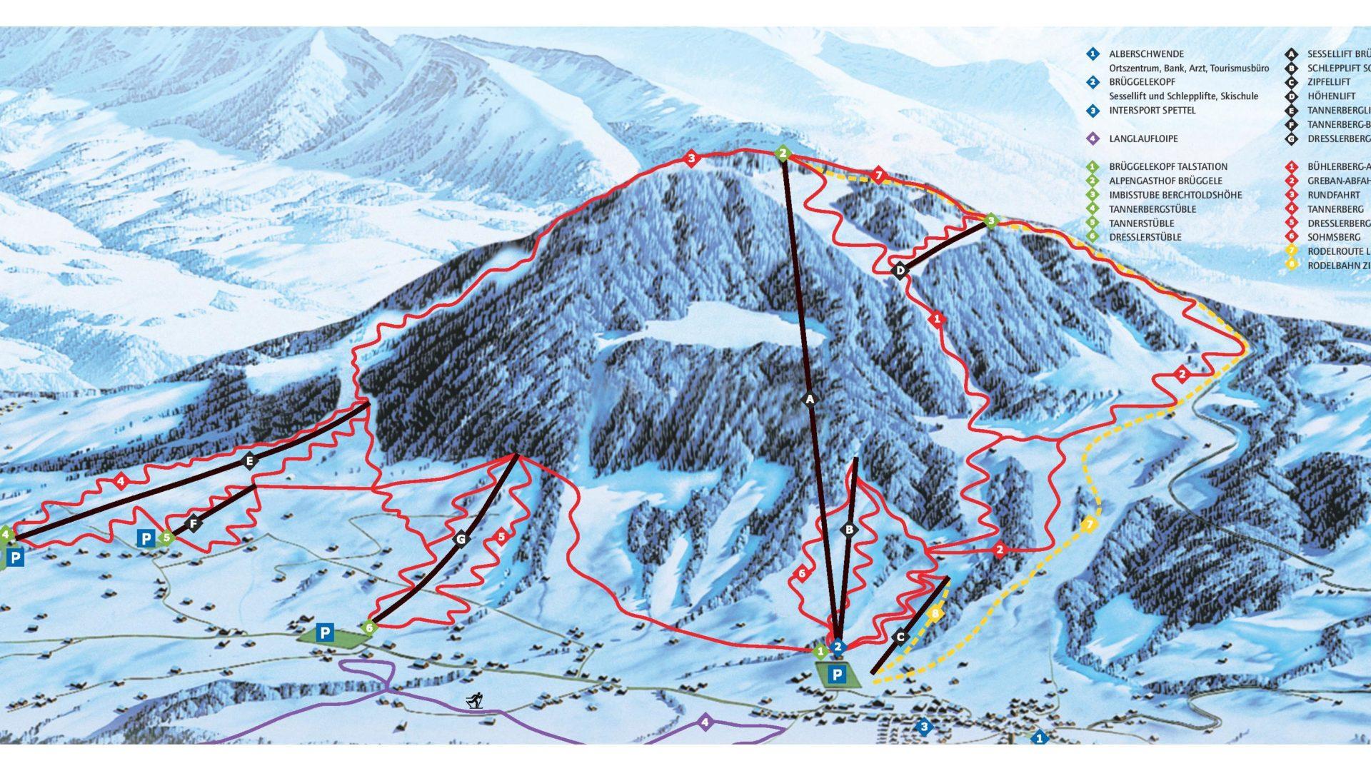 Panoramapistenplan Alberschwende