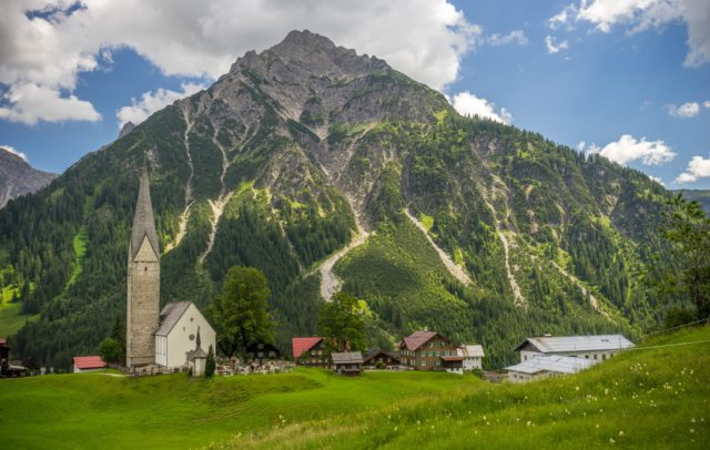 Blick auf Mittelberg