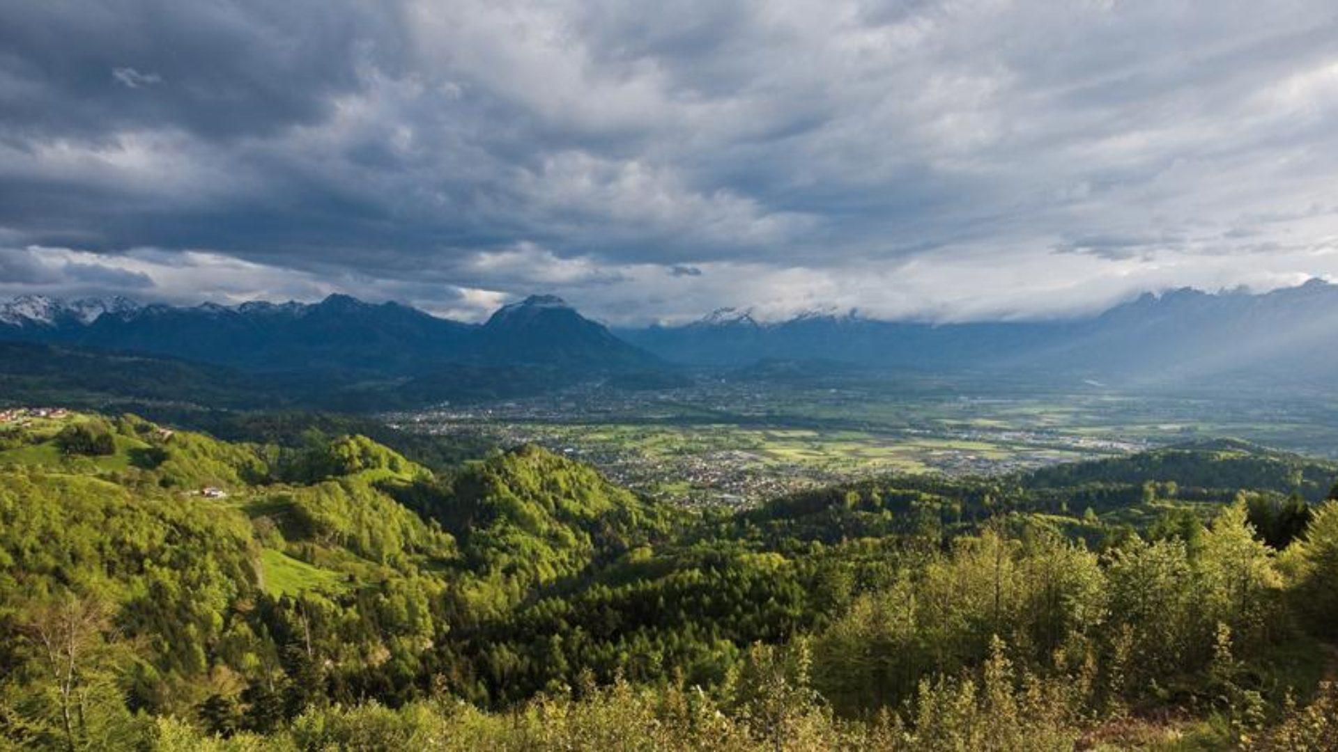 Blick in's Montafon von Feldkirch aus