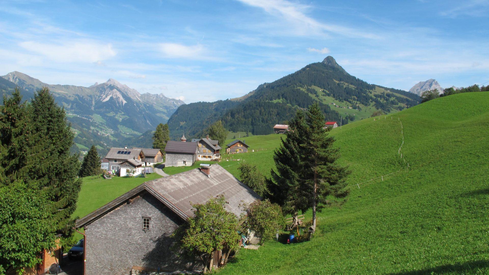 Blick von Raggal in das hintere Große Walsertal