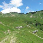 Die Alpe Sentum, eine typische Walser Alpsiedlung. Hier sieht man eindrücklich, wie das Gebiet bis