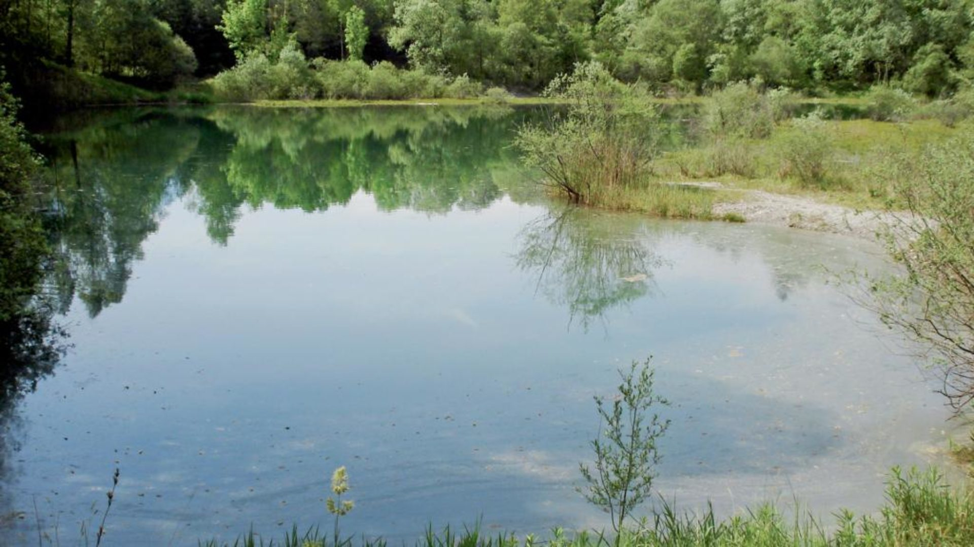 Ehemaliger Baggersee in der Alten Rüttenen