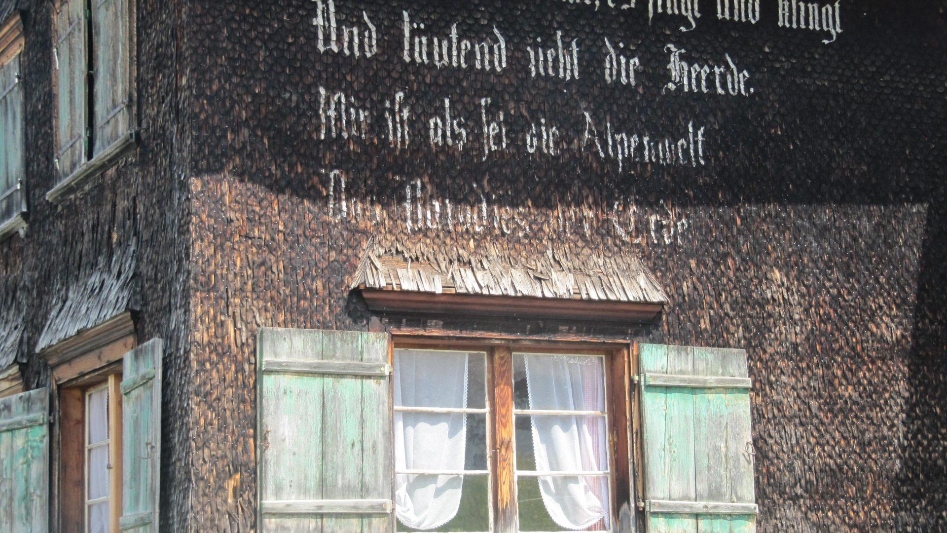 Inschrift auf einem der letzten Walserhöfe in Furx