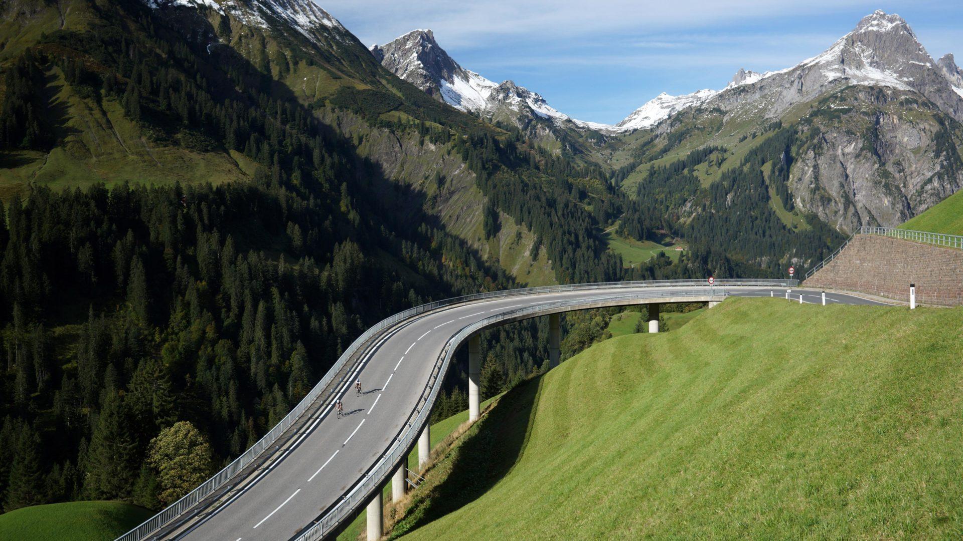 Passstraße zum Hochtannberg