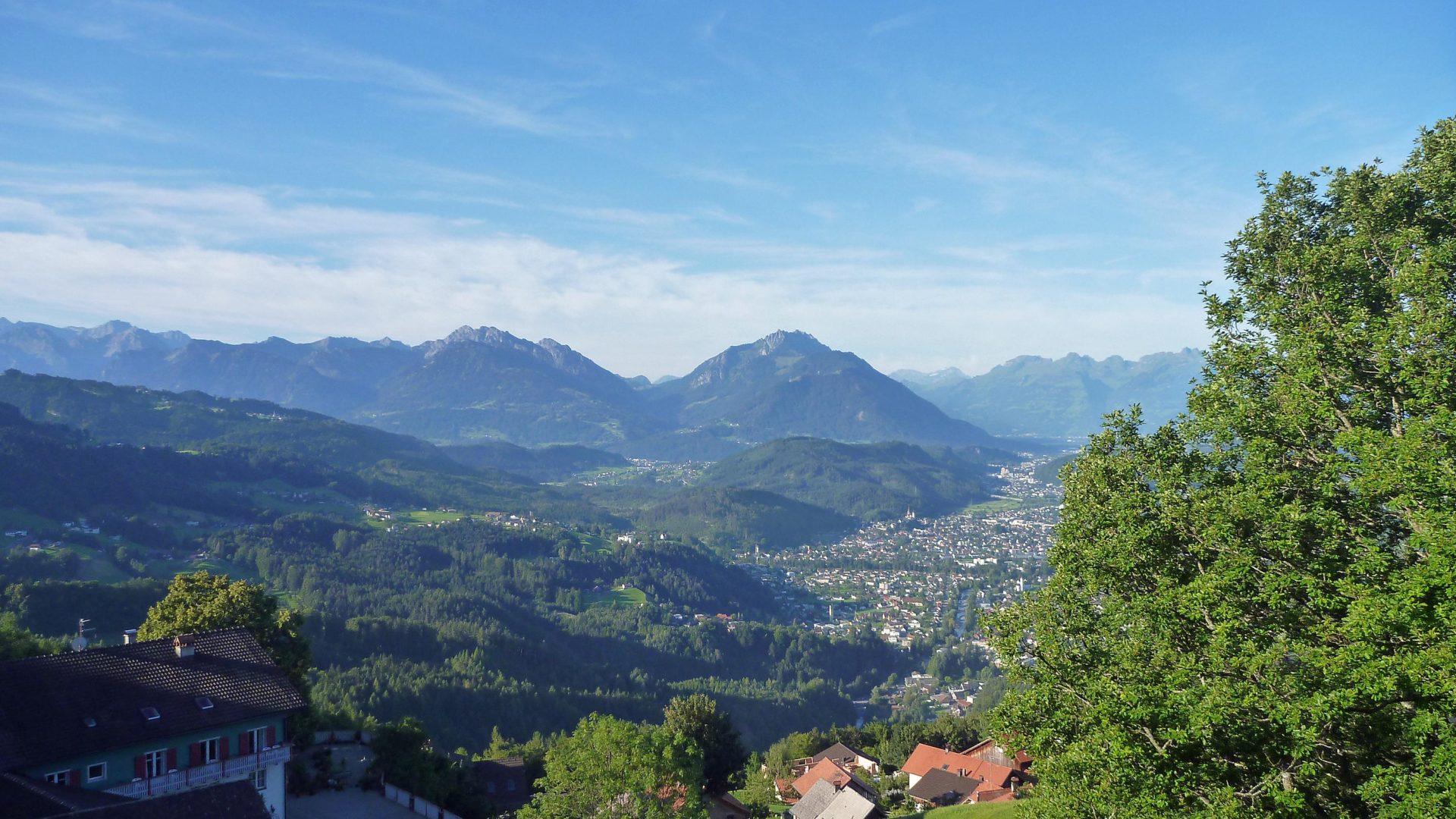 Südliches Rheintal Richtung Rankweil