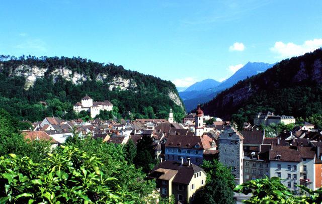 View over Feldkirch, Bodensee-Vorarlberg © Stadtkultur und Kommunikation Feldkirch GmbH