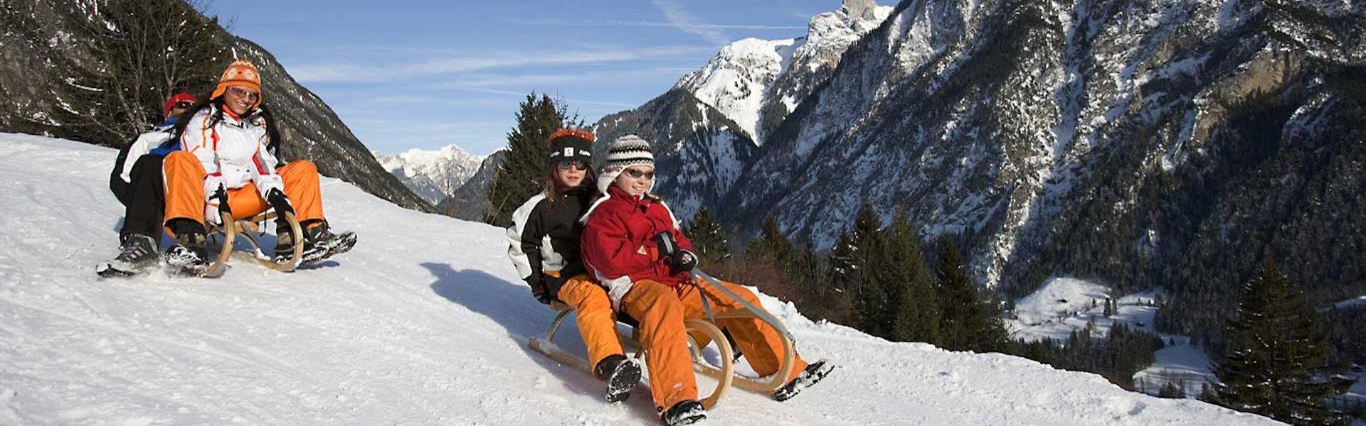 Rodelsafari Brandnertal (c) Dietmar Walser / Alpenregion Bludenz Tourismus GmbH