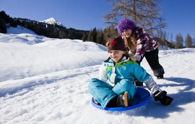 Rodelspaß für Kinder im Brandnertal © Dietmar Walser/Alpenregion Bludenz Tourismus GmbH