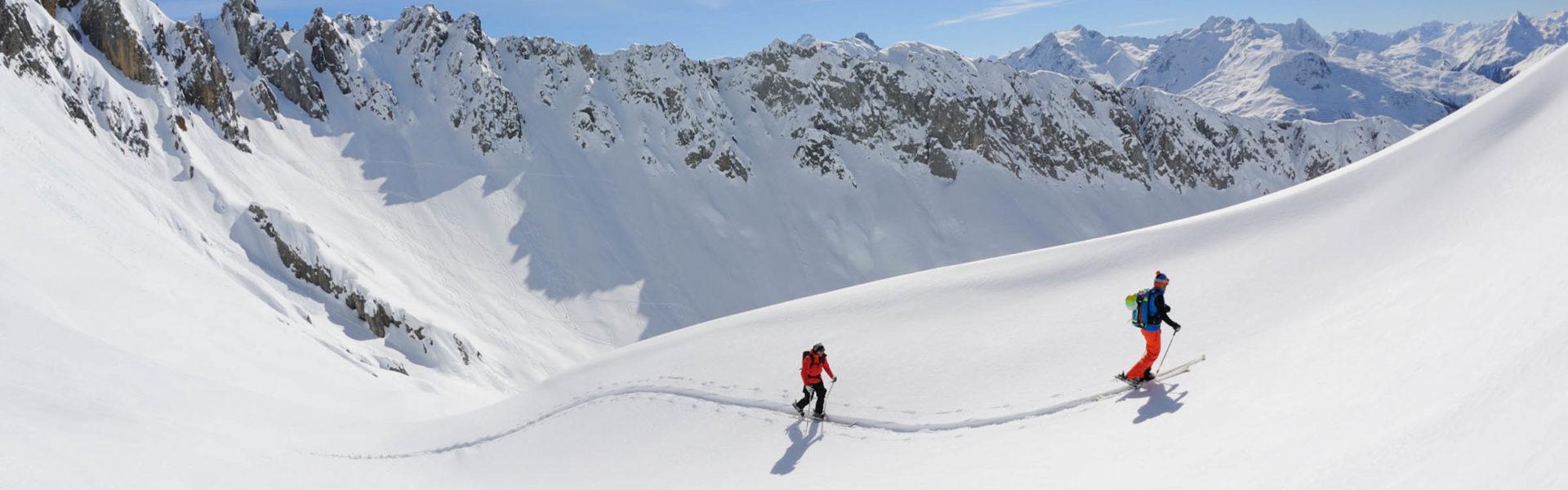 Skitouren in Lech Zuers © Sepp Mallaun/Lech Zürs Tourismus