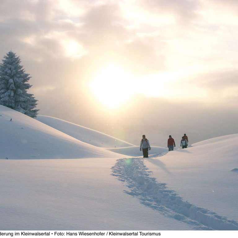 Winterwandern Kleinwalsertal © Hans Wiesenhofer