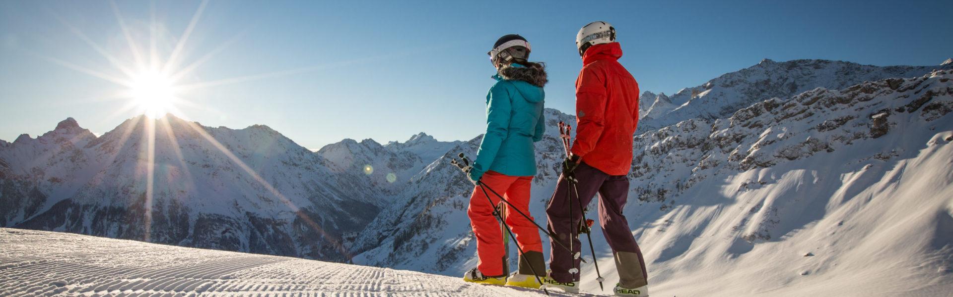 Skifahren im Brandnertal, Sonnenski Vorarlberg ©Michael Marte / Bergbahnen Brandnertal