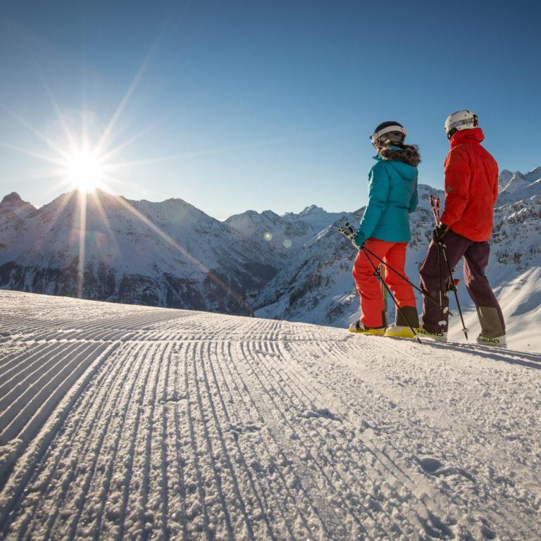 Skifahren im Brandnertal, Sonnenski Vorarlberg © Michael Marte / Bergbahnen Brandnertal
