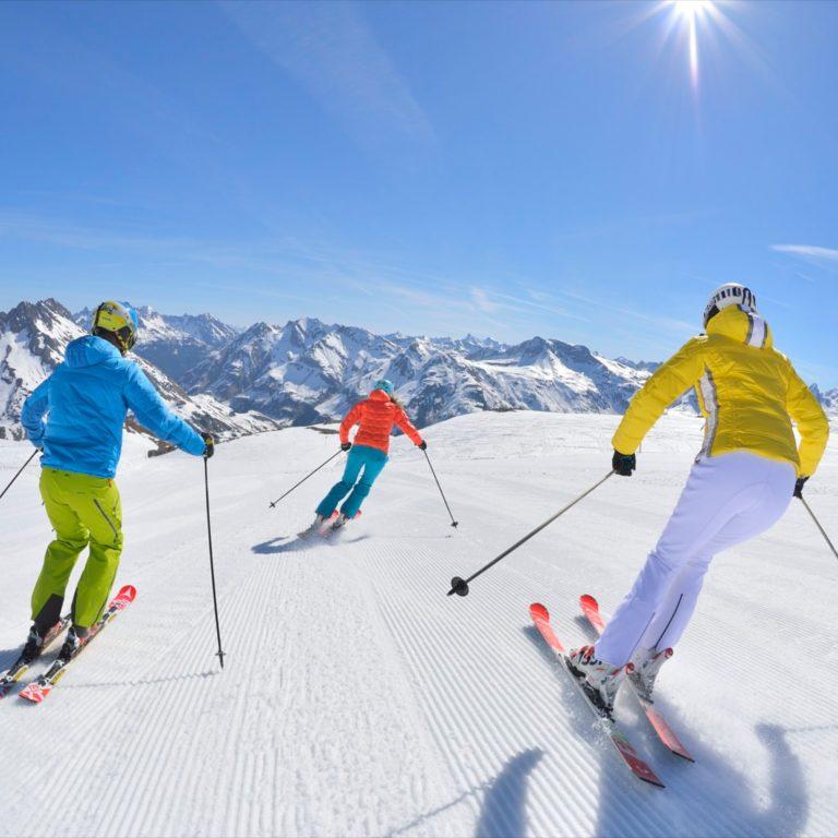 Skifahren Lech Zuers am Arlberg, Sonnenski © Josef Mallaun / Lech Zuers Tourismus