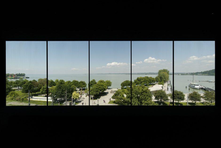 vorarlberg museum, Bregenz, Panoramaraum, gestaltet von Florian Pumhösl (c) baunetzwissen.de