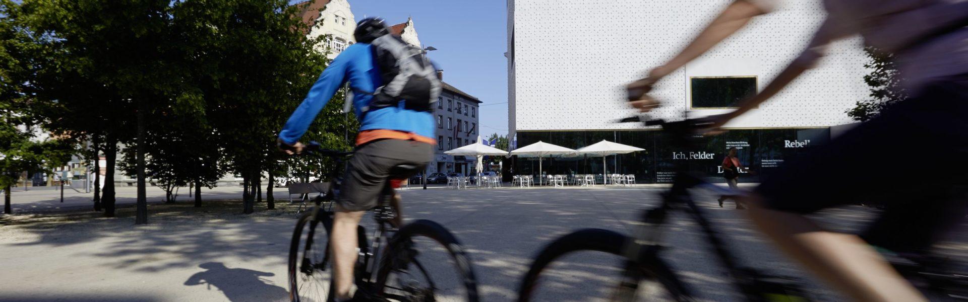 E-Bike, Bregenz am Bodensee, vorarlberg museum (c) Peter Mathis / Vorarlberg Tourismus