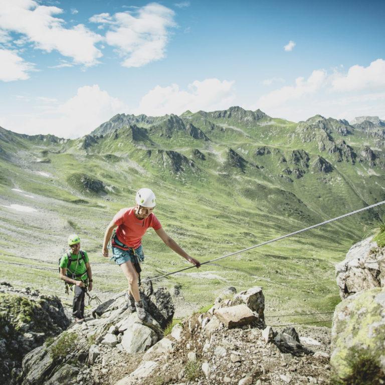 Klettersteig Gargellner Köpfe im Montafon, Sicherheit am Berg © Christoph Schöch / Bergbahnen Gargellen