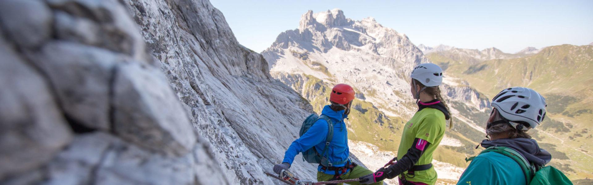 Klettersteig Gauablickhöhle © Stefan Kothner / Montafon Tourismus GmbH