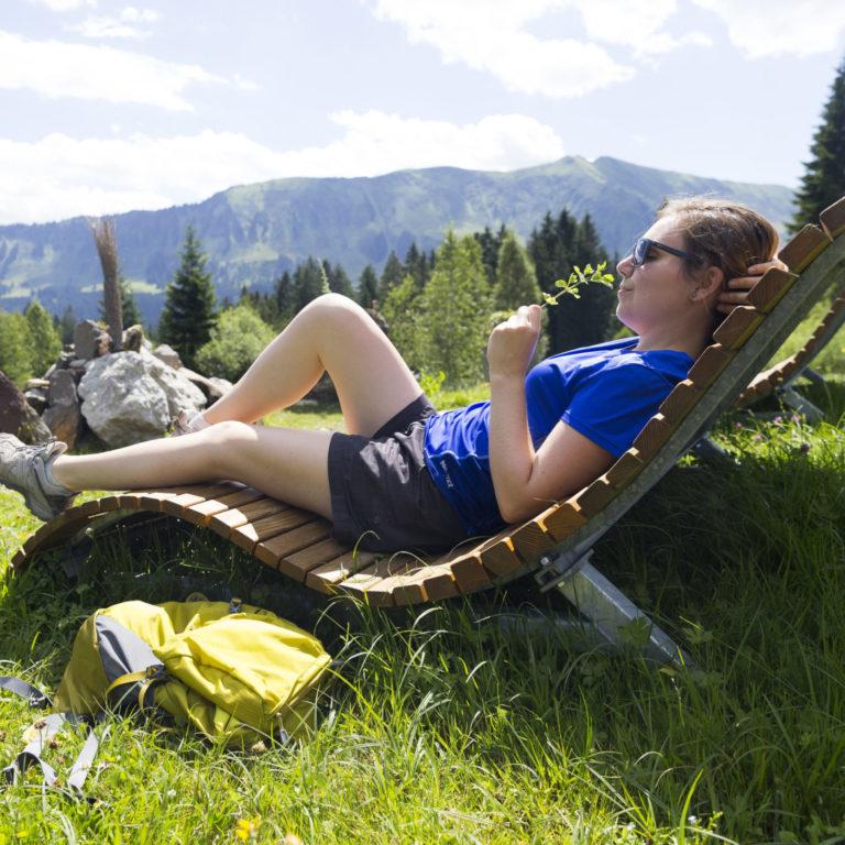 Wandern und Entspannen im Kleinwalsertal © Oliver Farys / Kleinwalsertal Tourismus
