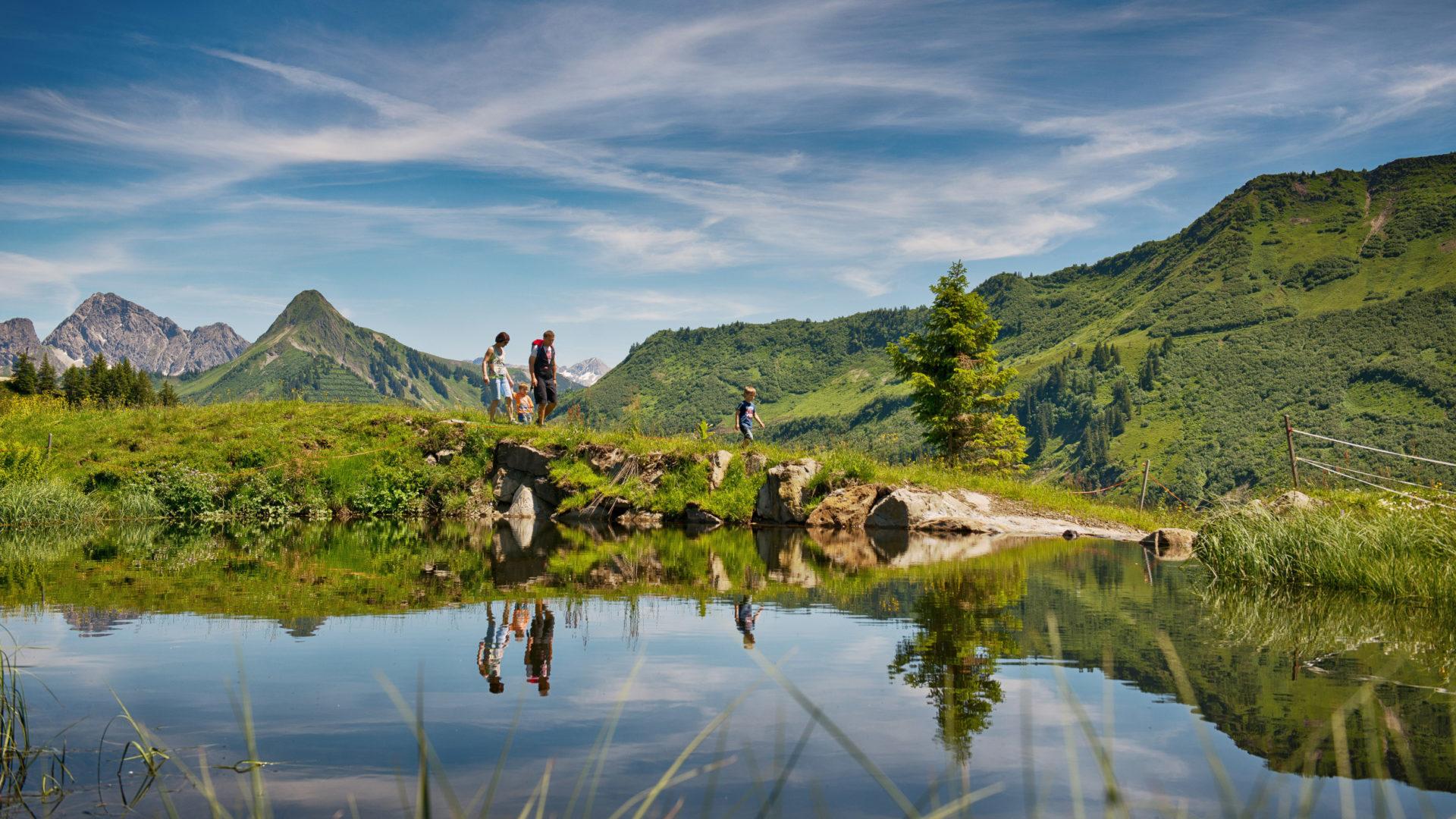 Wandern, Alpe Oberdamüls, Bregenzerwald (c) huber-images.at / Damüls Faschina Tourismus
