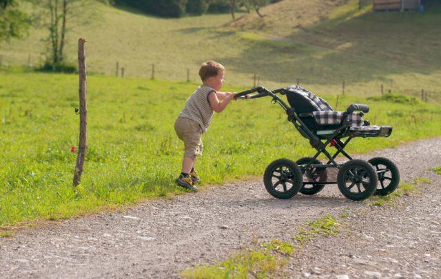 Wandern mit Kinderwagen (c) Bregenzerwald Tourismus GmbH