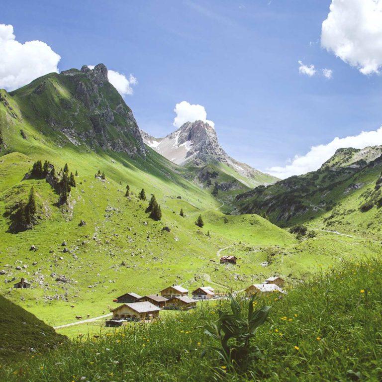 Alpe Laguz, Biosphärenpark Großes Walsertal, Walserweg (c) Dietmar Walser / Vorarlberg Tourismus