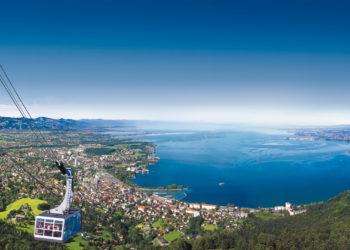 Pfänderbahn, Bergbahn, Seilbahn, Panorama Bodensee, V-CARD Vorarlberg (c) Otmar Heidegger / Vorarlberg Tourismus