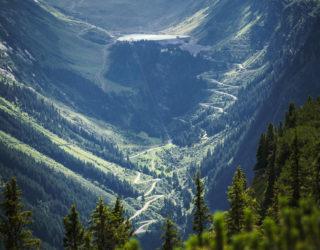 Blick auf Silvretta-Hochalpenstrasse, Serviceline (c) Dietmar Denger / Vorarlberg Tourismus
