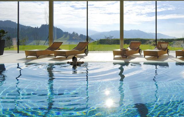 Golfhotel Wellnesshotel Linde Sulzberg pool
