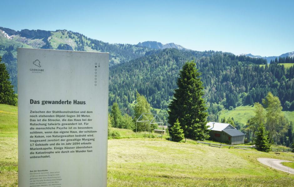 Tafel Georunde Rindberg © Vorarlberg Tourismus