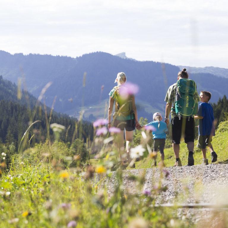 Wandern Familie Alpleben Fluchtalpe @Oliver Farys (50) © Oliver Farys / Kleinwalsertal Tourismus eGen   Fotograf: Oliver Farys