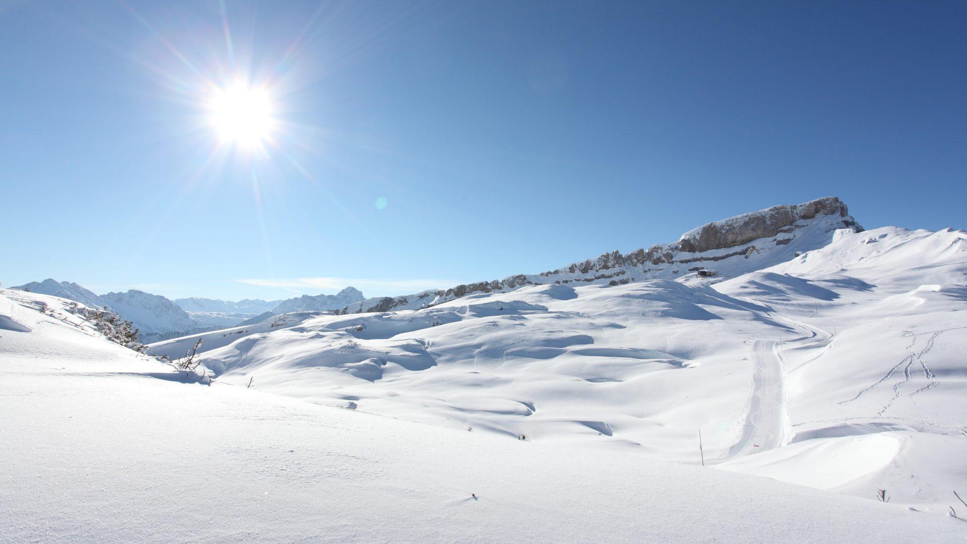 Gottesacker mit Panoramaweg und Skigebiet Ifen