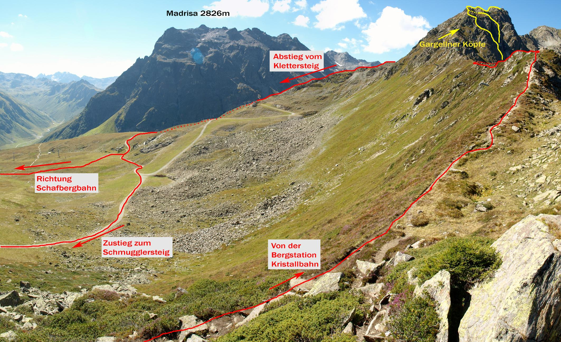 Vaude Klettersteig : Bergtour vaude klettersteig gargellner köpfe bergerlebnis