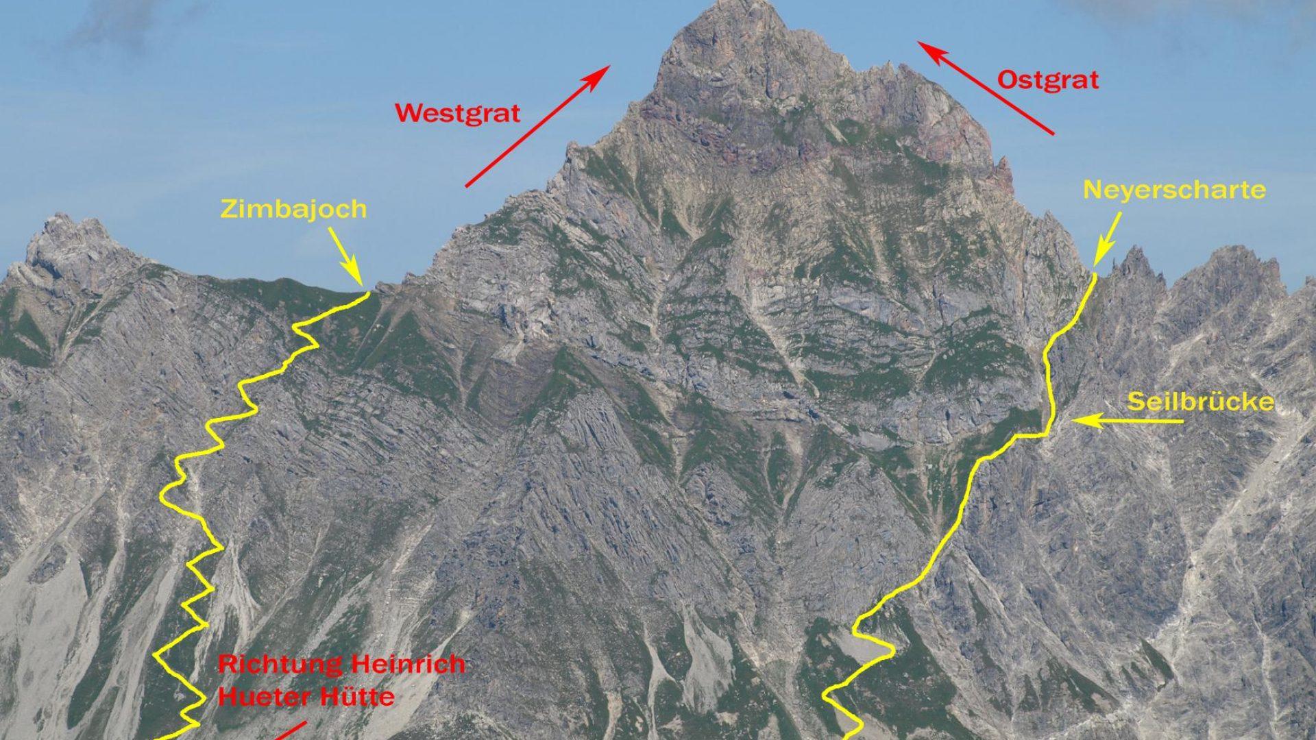 Klettersteig Map : Klettersteige in vorarlberg