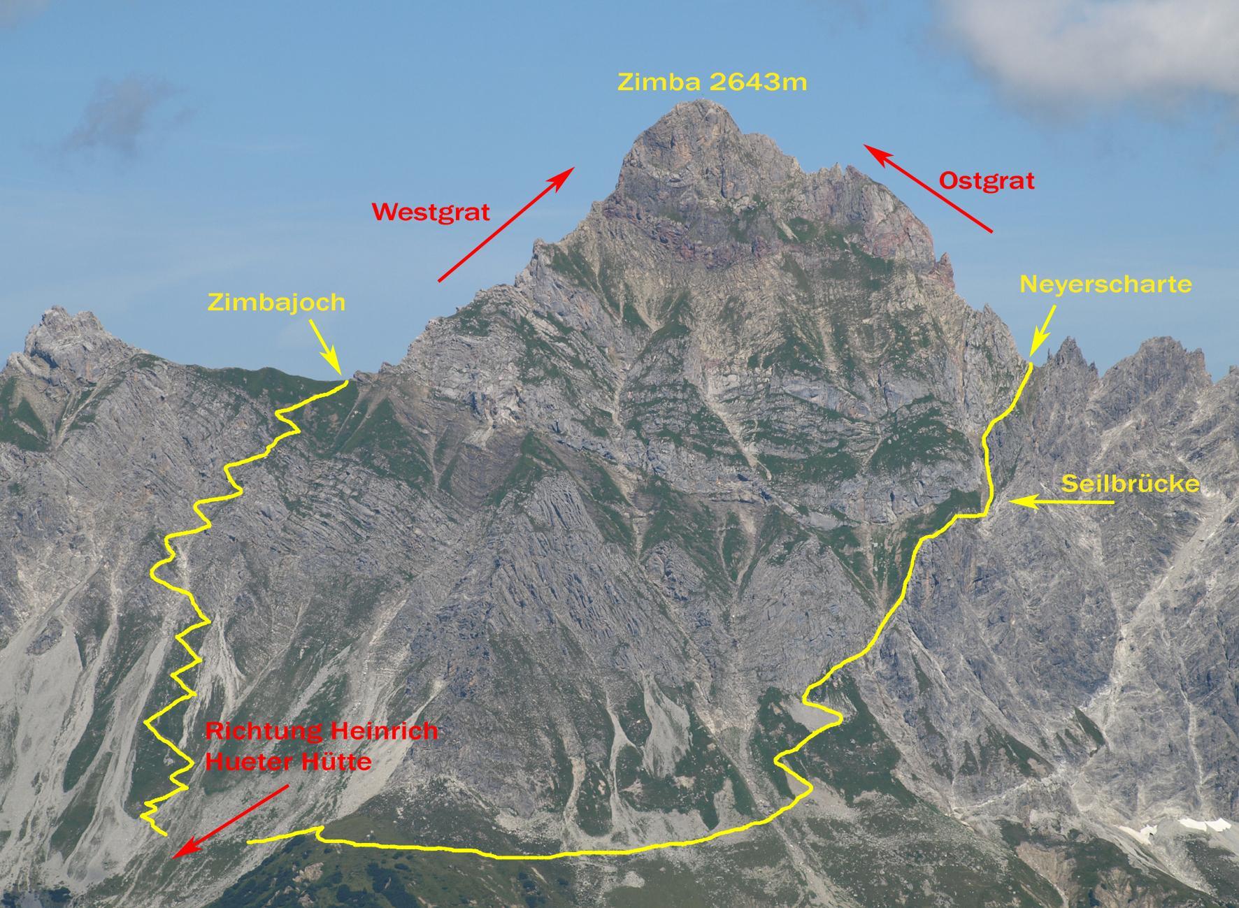 Klettersteig Map : Klettersteig neyerscharte urlaub in vorarlberg