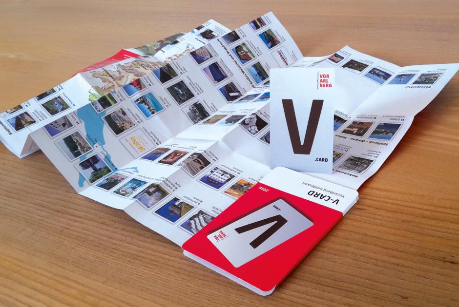 V-CARD mit Folder (c) Vorarlberg Tourismus
