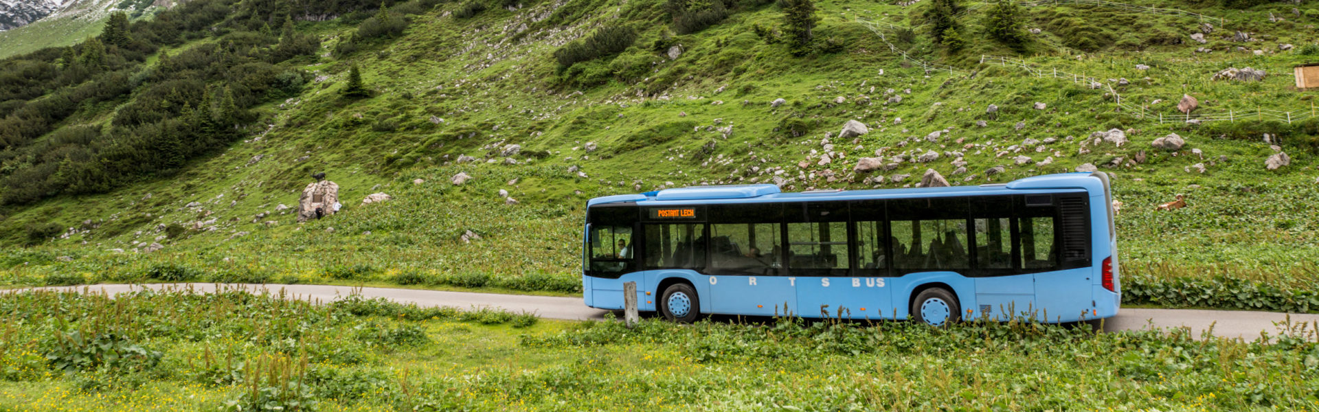 Formarinalpe, mit dem Bus nach Lech © Helmut Düringer / Vorarlberg Tourismus GmbH