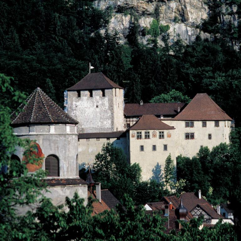 Schattenburg und Katzenturm in Feldkirch © Andreas Gaßner / Vorarlberg Tourismus